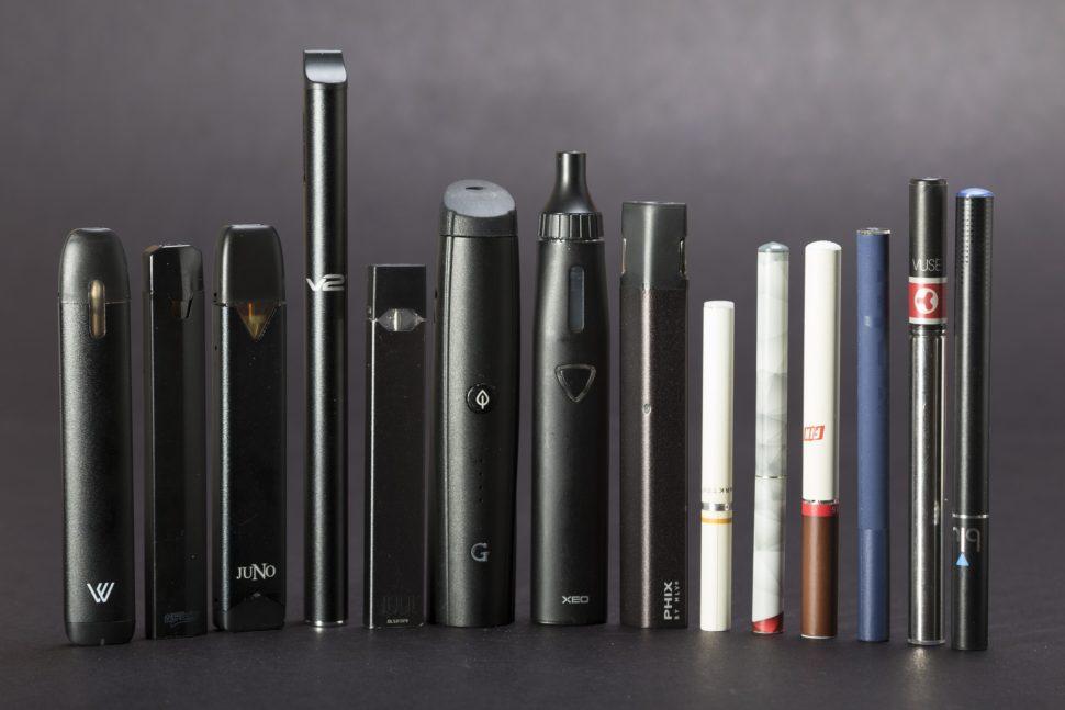 Diferentes tipos de cigarro eletrônico