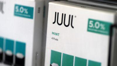 Embalagem do cigarro eletrônico Juul sabor menta