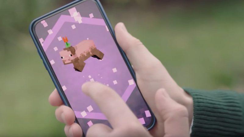 Captura de tela do jogo Minecraft Earth