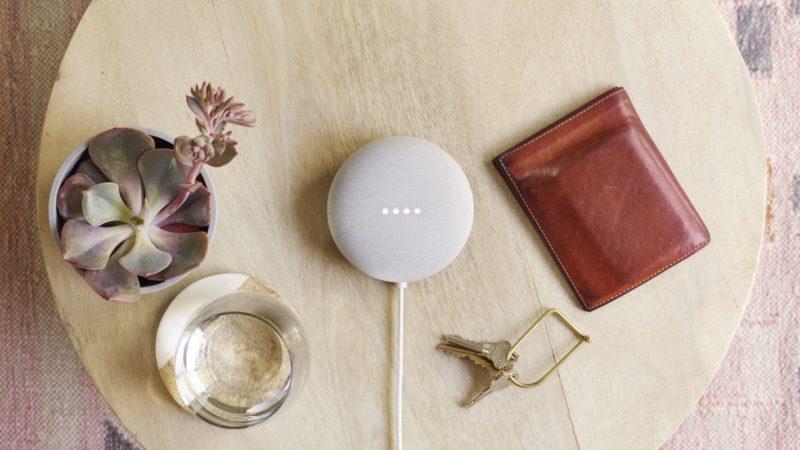 Google Nest Mini na cor giz