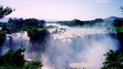 Queda do rio Nilo Azul