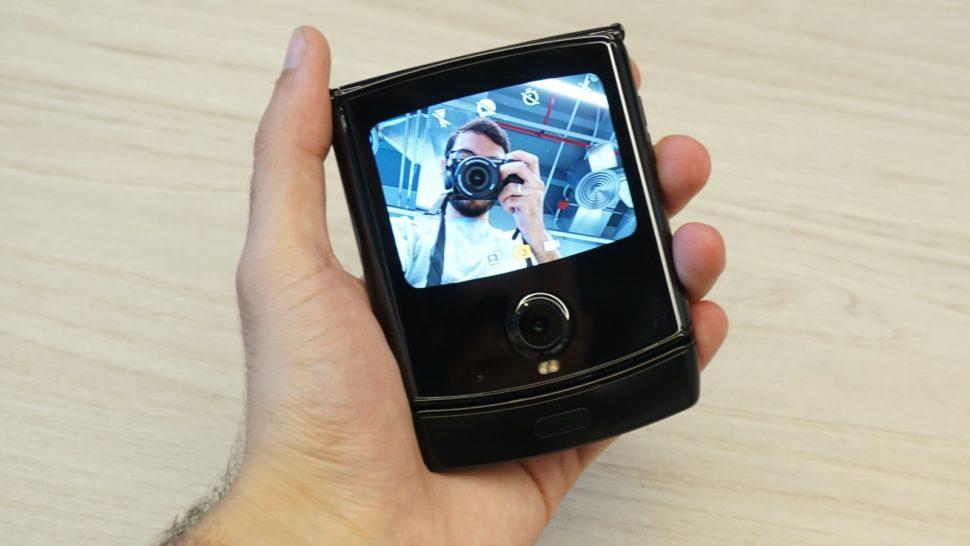 Selfie com o Moto Razr