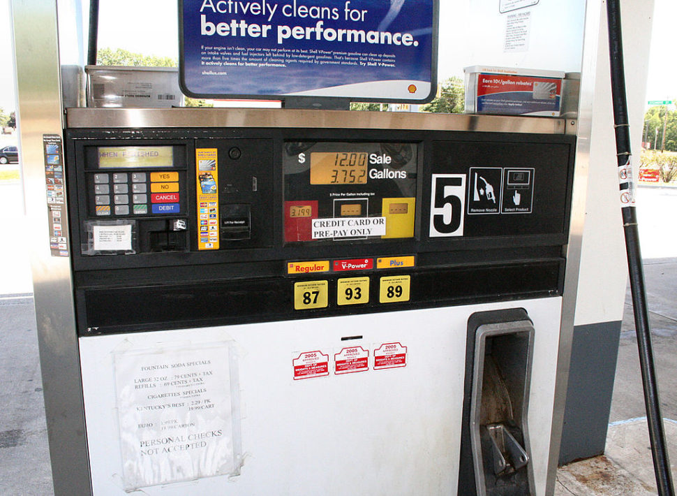 Bomba de gasolina nos EUA conta com interface de pagamento