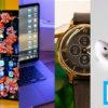 Vários dos gadgets do ano de 2019 em uma fotomontagem