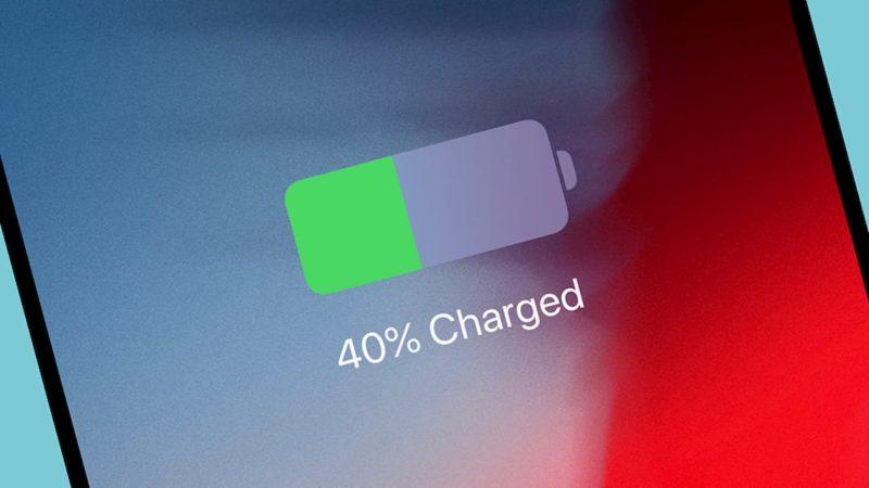 tela de um dispositivo iOS com indicador de bateria em 40%