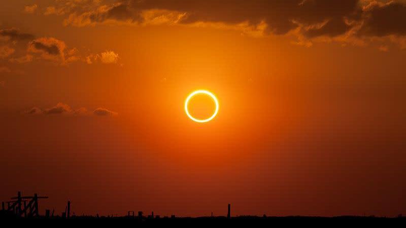 Eclipse solar anular fotografado em 20 de maio de 2012 no Novo México, nos EUA. Crédito: Kevin Baird/Wikimedia Commons