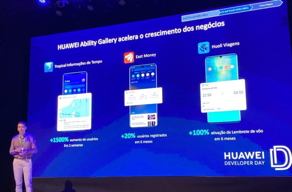 Daniel Di as, gerente de GTM da Huawei Brasil, durante evento que fala sobre o Huawei Assistente