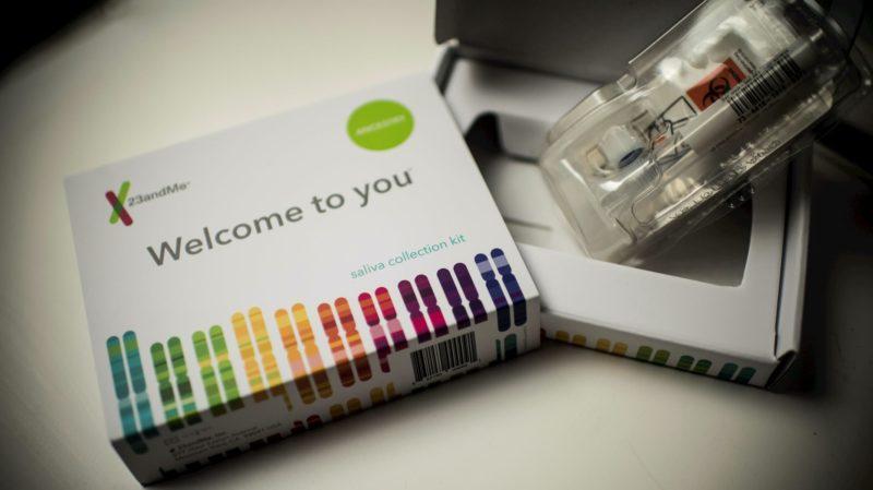 kit de coleta de saliva da 23andMe