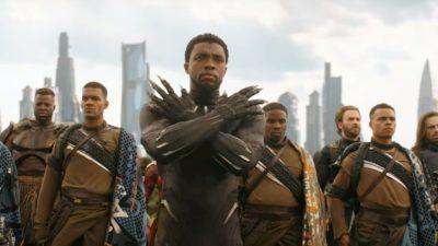 Cena do filme Pantera Negra, da Marvel