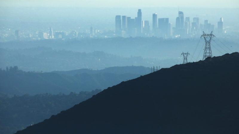 Paisagem com poluição