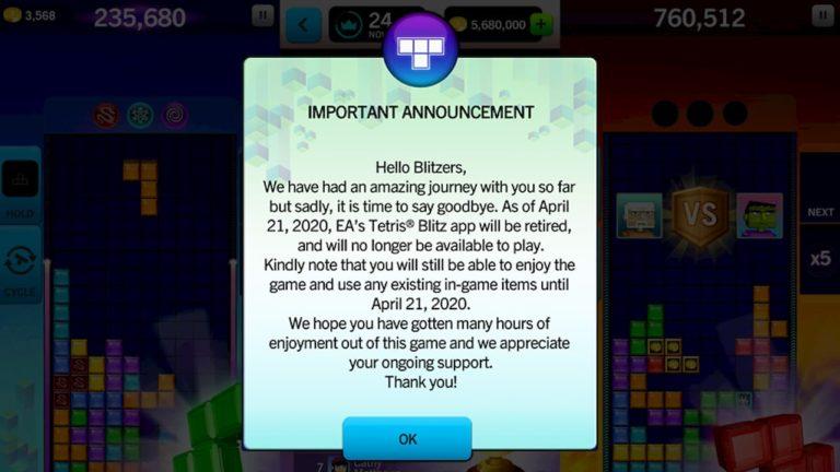 anuncio tetris 768x432 - Tetris da EA para iPhone deixará de funcionar em breve, mesmo que você tenha comprado