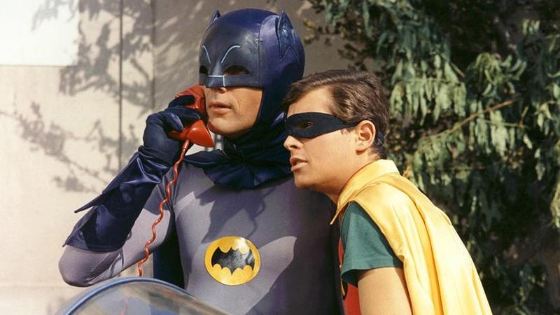 Batman e Robin em seriado da década de 1960. Crédito: ABC