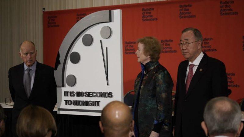 Relógio do Juízo Final está a 100 segundos para o fim do mundo