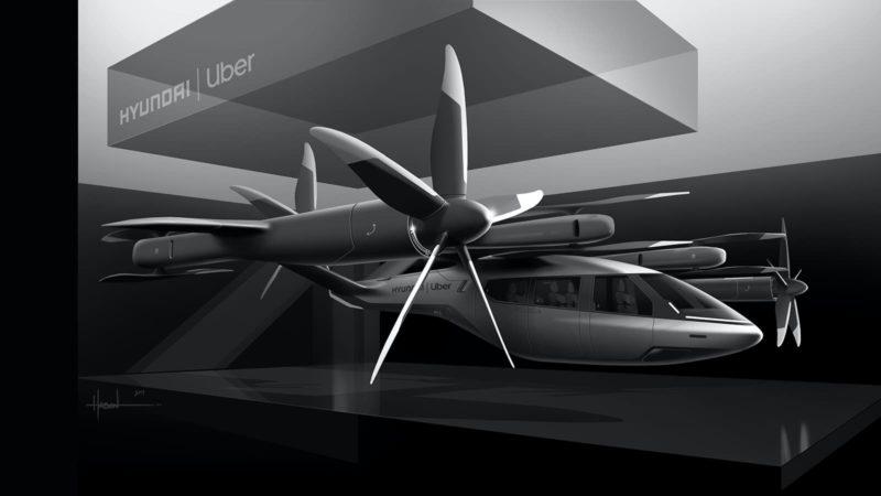 Conceito de veículo aéreo da Hyundai em parceria com a Uber