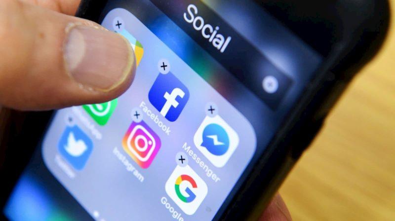 Ícones de aplicativos de redes sociais