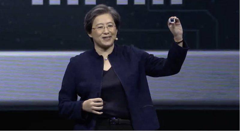 Lisa Su, CEO da AMD, durante a CES 2020