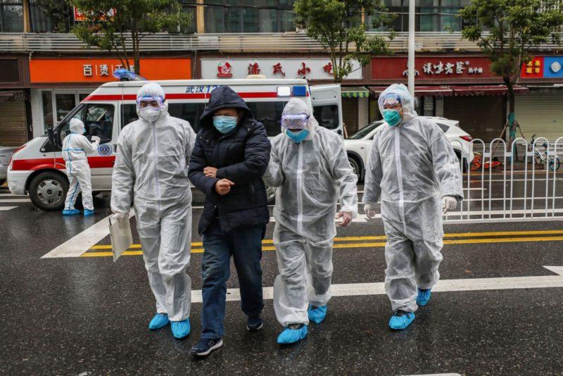 Médicos em Wuhan. Crédito: Getty Images