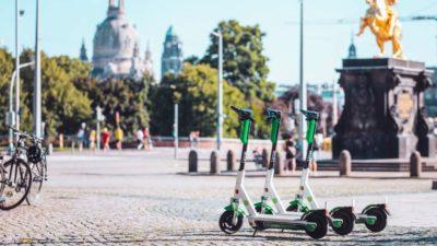 Patinetes da Lime em Berlim, na Alemanha