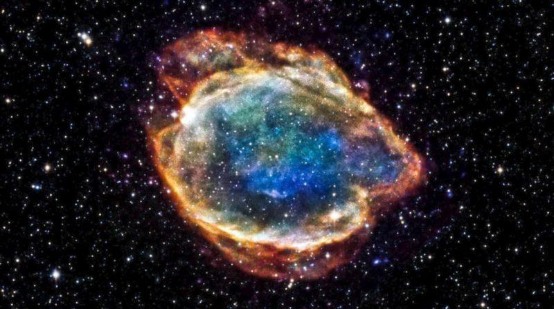 Os restos de uma supernova tipo 1a