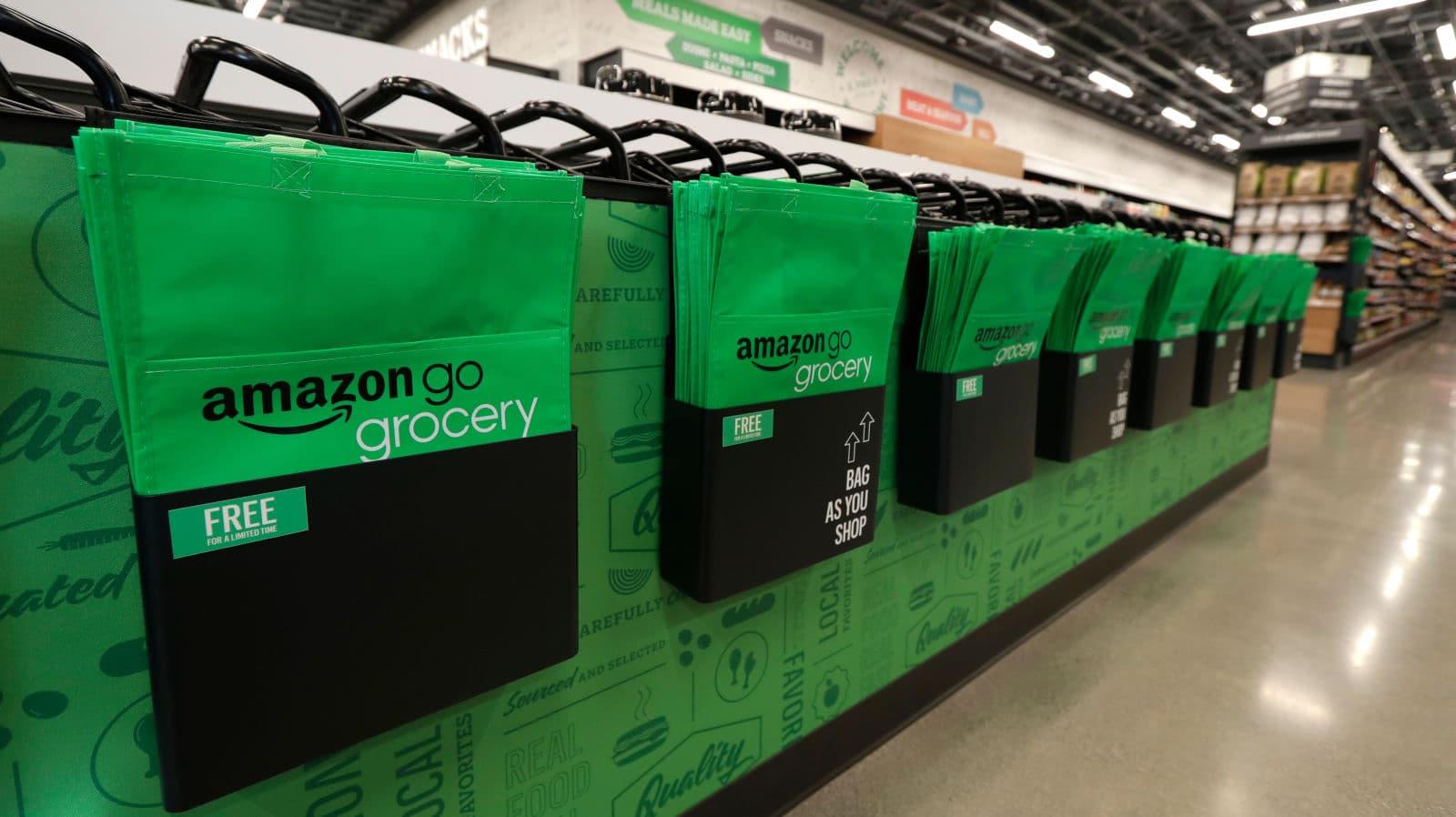 Sacolas da Amazon Go Grocery
