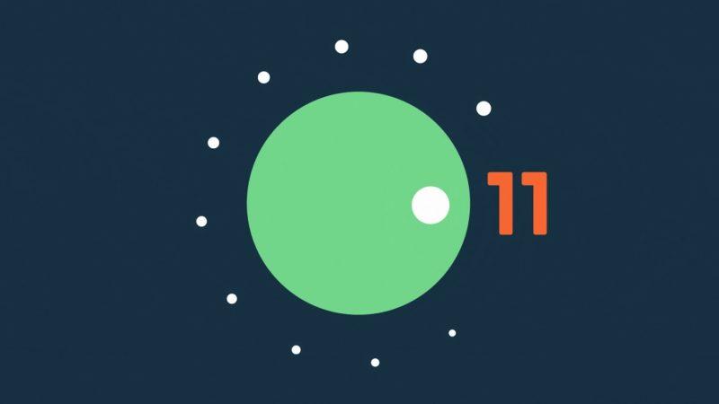 Logotipo do preview do sistema Android 11