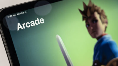 Página inicial do Apple Arcade