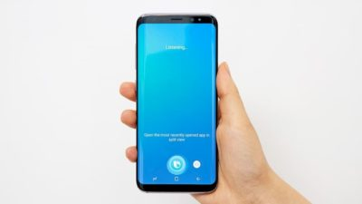 Tela da assistente virtual Bixby