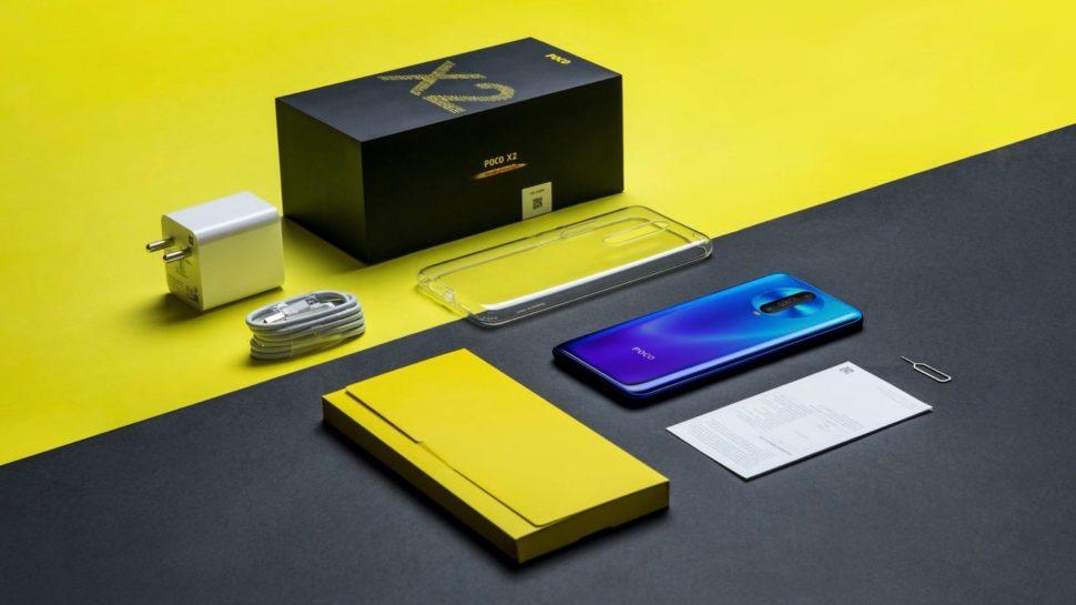 Caixa do smartphone Poco X2