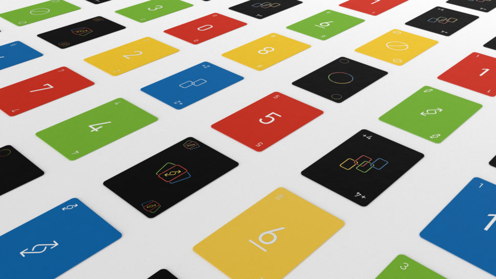 Fontes menores, cores mais fortes e ícones redesenhas para adicionar apelo ao Uno Minimalista. Crédito: Mattel