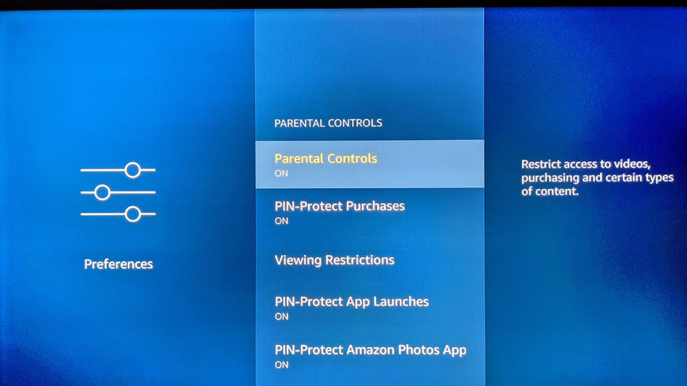 Recurso de controle parental do Amazon Fire TV