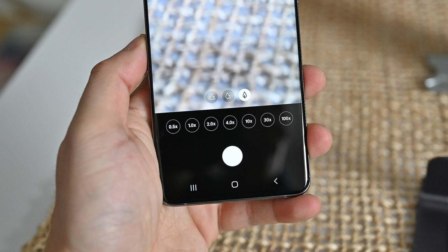 App de câmera do Galaxy S20 Ultra