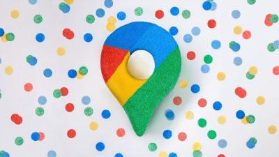 Ícone do Google Maps de comemoração dos 15 anos da plataforma