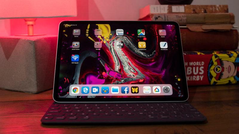 iPad Pro com teclado