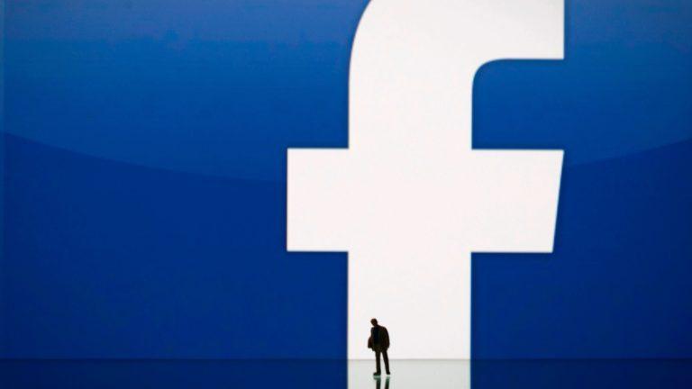 Logotipo do Facebook com a silhueta de um homem