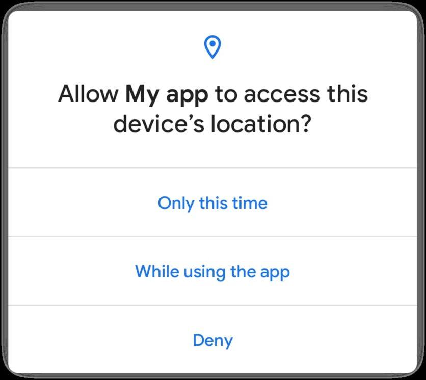 Permissão presente no Android 11