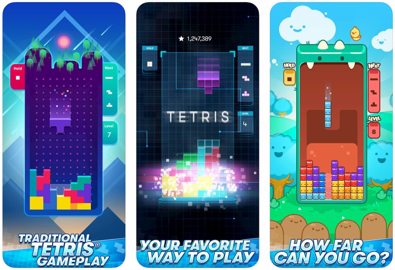Captura de tela do jogo Tetris