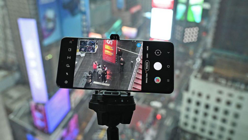 Interface de zoom do Galaxy S20 Ultra