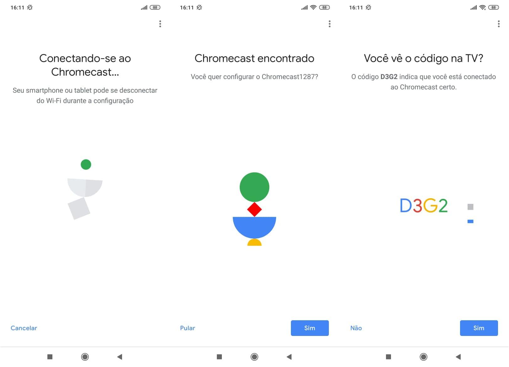 Passo a passo da configuração do Chromecast no app Google Home