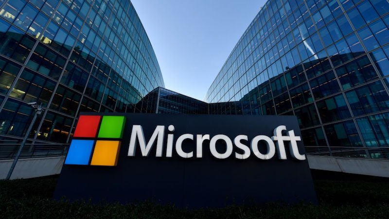 Logotipo da Microsoft. Crédito: Gerard Julien (AFP via Getty Images)