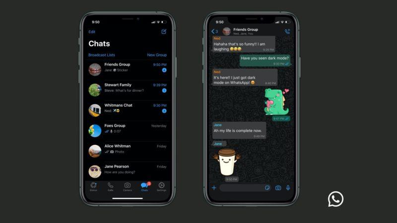 Tema Escuro do WhatsApp para iPhone (iOS)