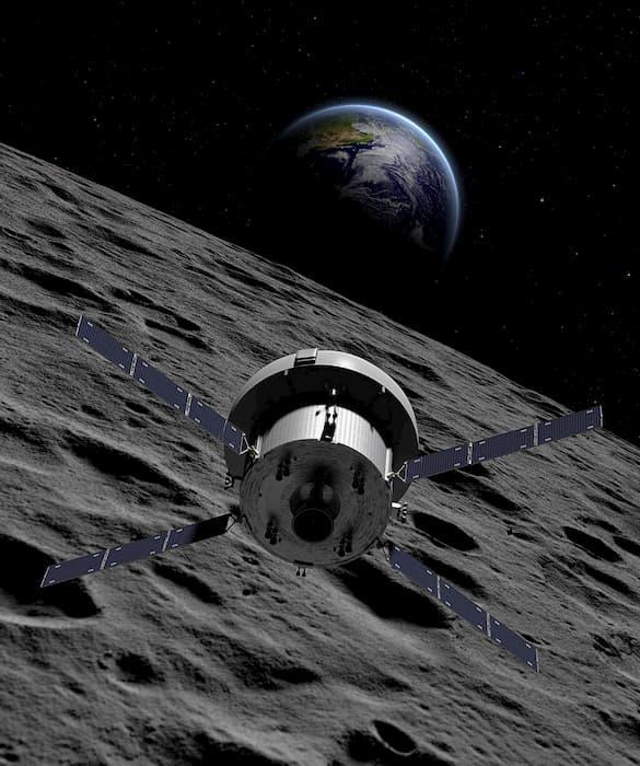 Imagem conceitual da nave Orion
