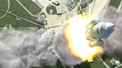 Imagem de conceito do SLS