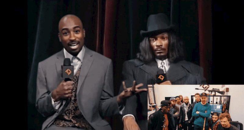 Deepfake de Tupac ao lado de Snoop Dogg