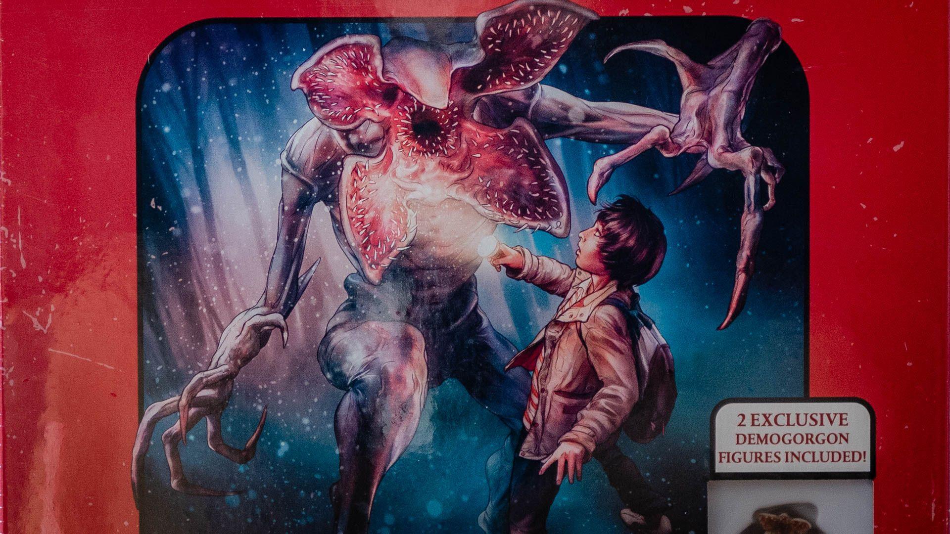 Parte da capa do Dungeons & Dragons Stranger Things Starter Set.