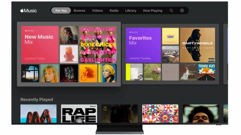 Apple Music na TV da Samsung
