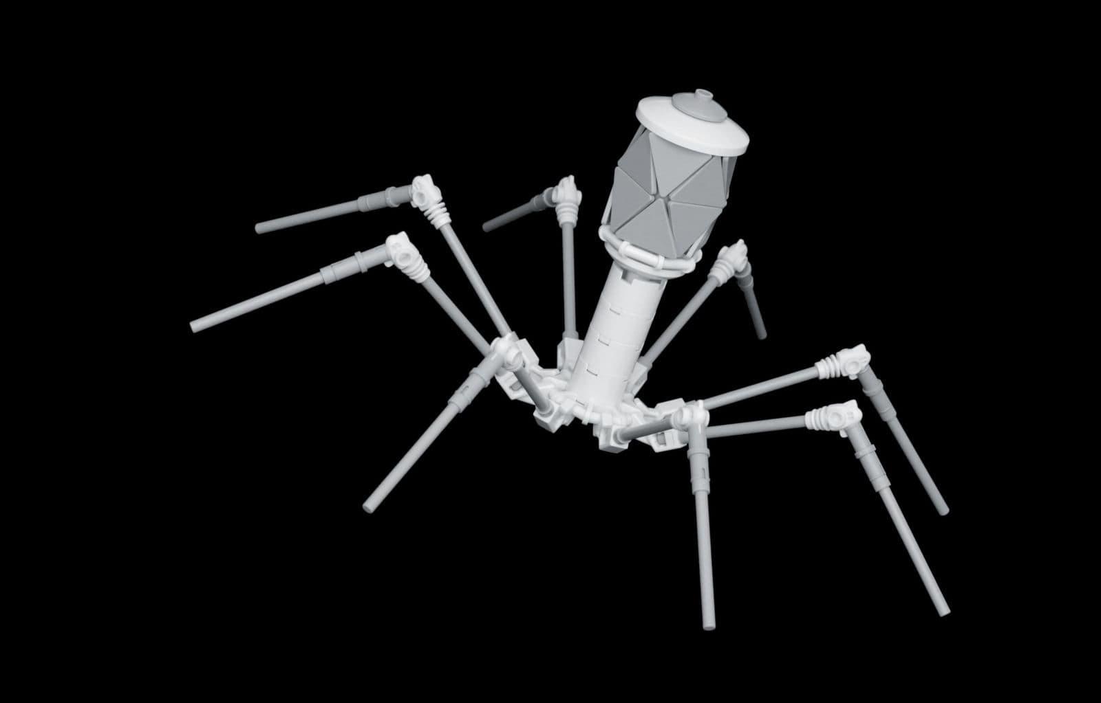 Um modelo Lego de um bacteriófago