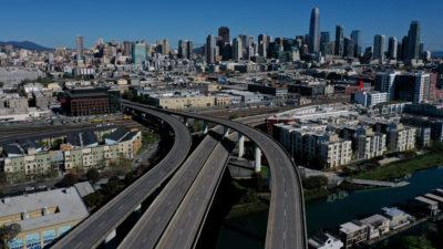 Cidade de San Francisco, Califórnia, vazia durante a quarentena. Crédito: Getty Images