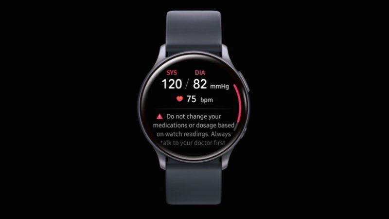 Recurso de monitoramento de pressão arterial no Galaxy Watch Active 2