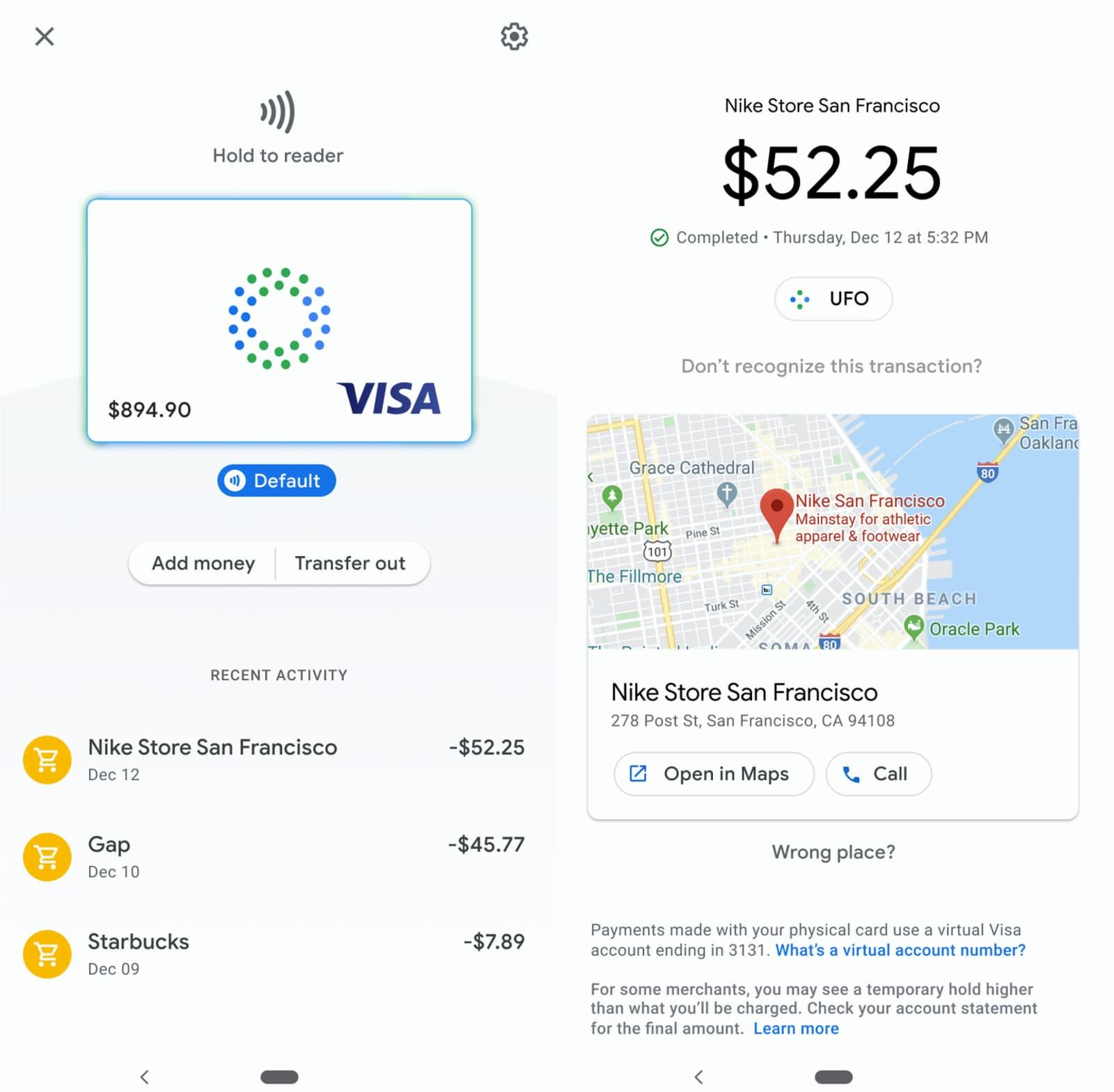 Saldo do Google Card