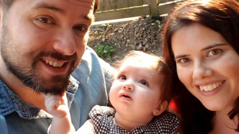 Margarida Cibrao-Roque com sua mãe Joana Cibrao e pai Paulo Roque